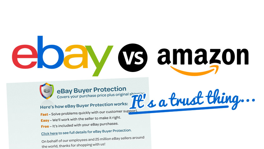 amazon and ebay Want to make a little money on the side jordan malik joins us to discuss how to use that old chestnut of 'buy low sell high' to your advantage read on for details on how to buy on ebay, sell on amazon and pick up some extra cash forty percent of amazon sales come from third-party sellers.