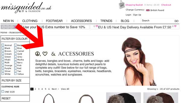 Missguided Lost Keywords