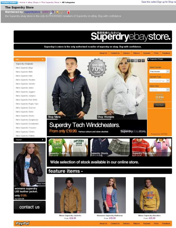 SuperDryStore eBay Shop