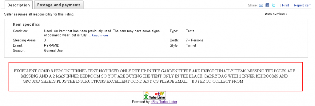 eBay Caps Lock  sc 1 st  The Last Drop of Ink & 7 Leathal eBay Listing Mistakes (Including Borat) - The Last Drop ...