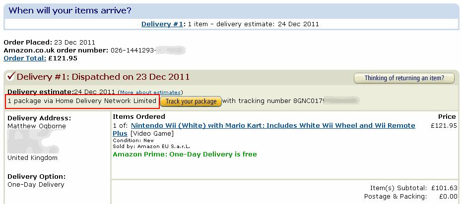 Amazon-Order-Wii