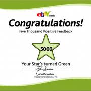 Congratulations eBay Feedback Stars!