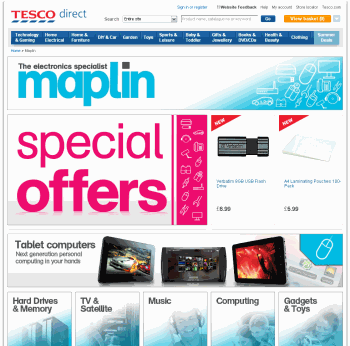 Tesco Marketplace Maplins Store