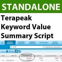Terapeak Keyword Value Summary Script