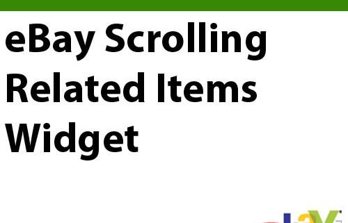 eBay Scrolling Related Items Widget