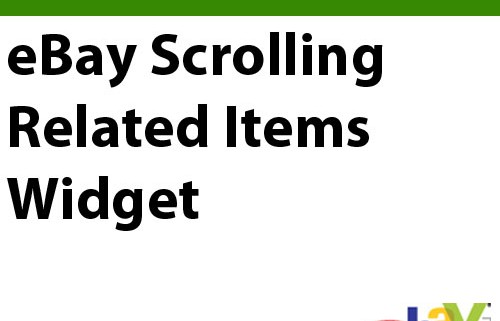 eBay Scrolling Related Items Widget