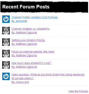 Recent Forum Posts Widget