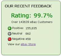 eBay feedback Widget