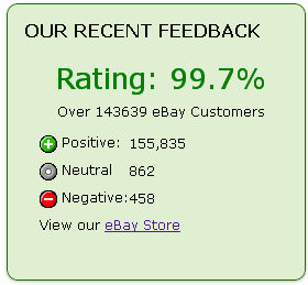 eBay feedback Widget