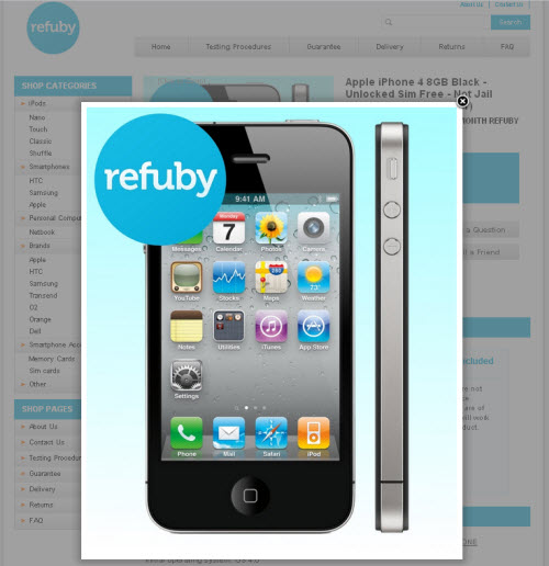 jQuery Example on eBay 1