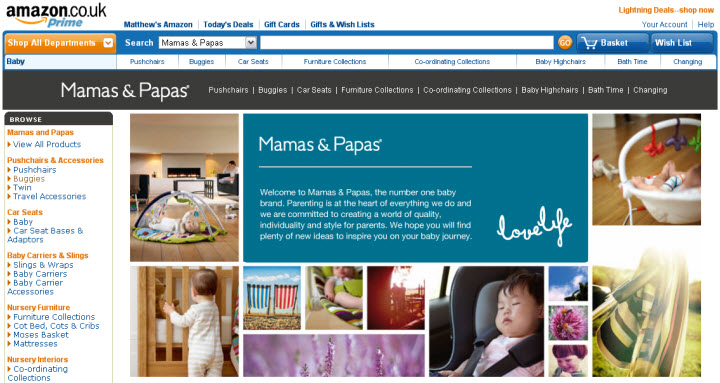 mamas and papas on Amazon
