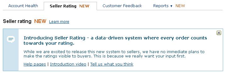 Amazon Seller Ratings - Header