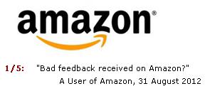 Amazon Negative Feedback