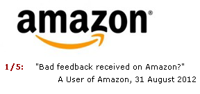 Amazon Negative Feedback
