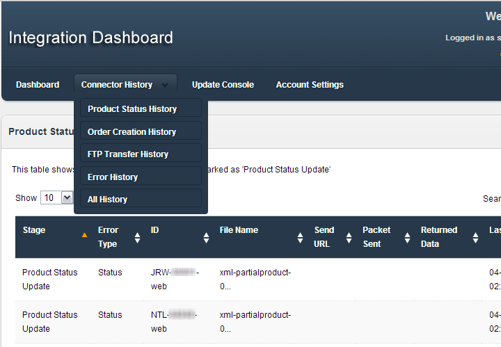 Integration Account Dashboard