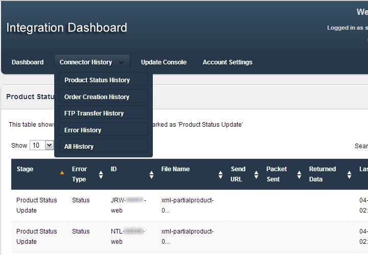 Integration Account Dashboard