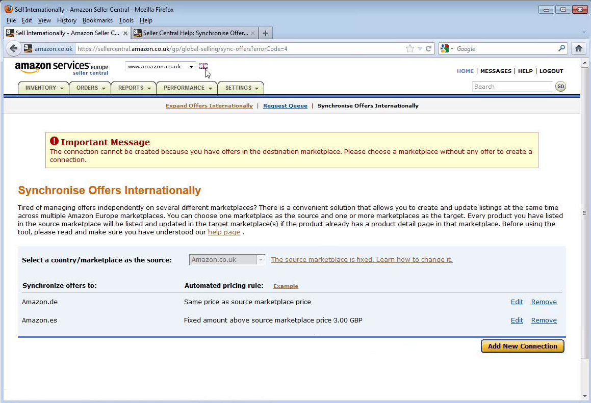 Amazon Synchronise Offers Internationally Tool