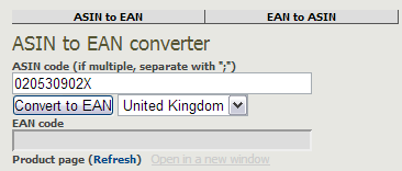 Free ASIN to EAN Converter