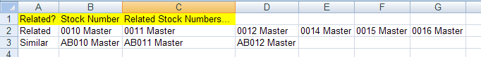 Managing Related & Similar Products in Excel