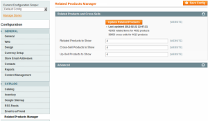 Related products manager for Magento