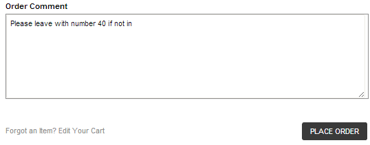 Magento order comments in the checkout