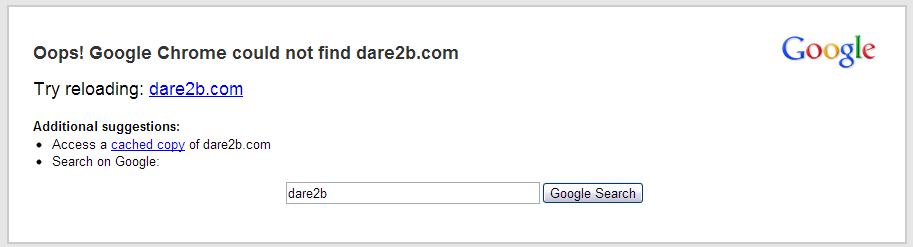 Dead Website As No DNS Settings