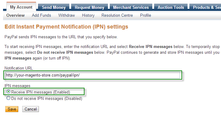 PayPal IPN for Magento Step 4