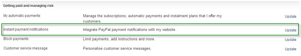 Paypal IPN for Magento Step 2