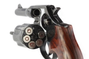 Revolver With Bullets