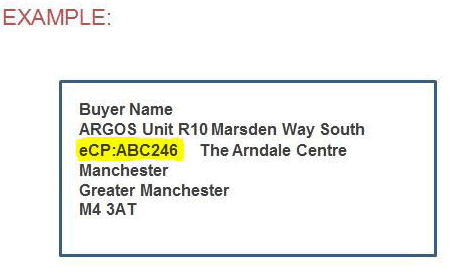 eBay Click & Collect Example Label