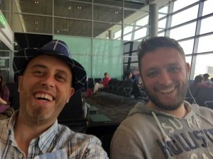 Myself & Dave in the Airport