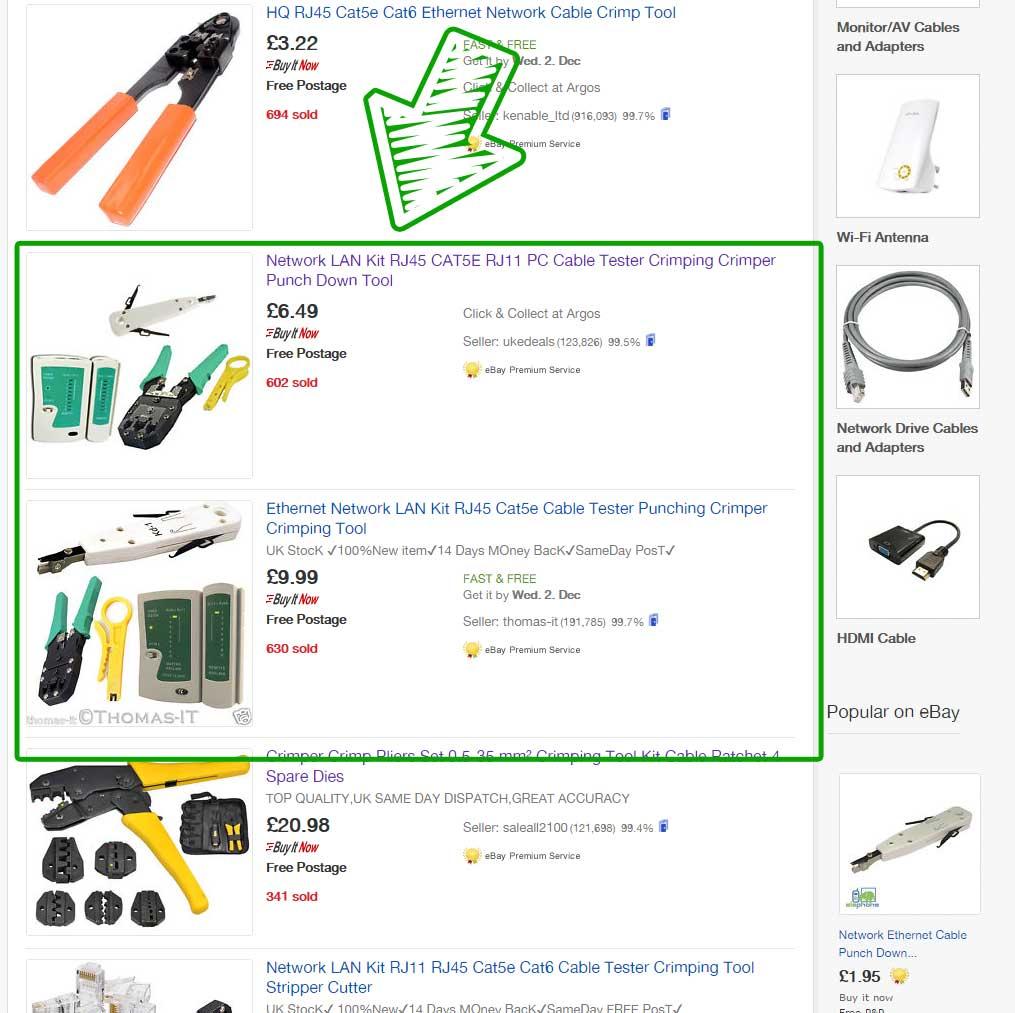 eBay Kits Example