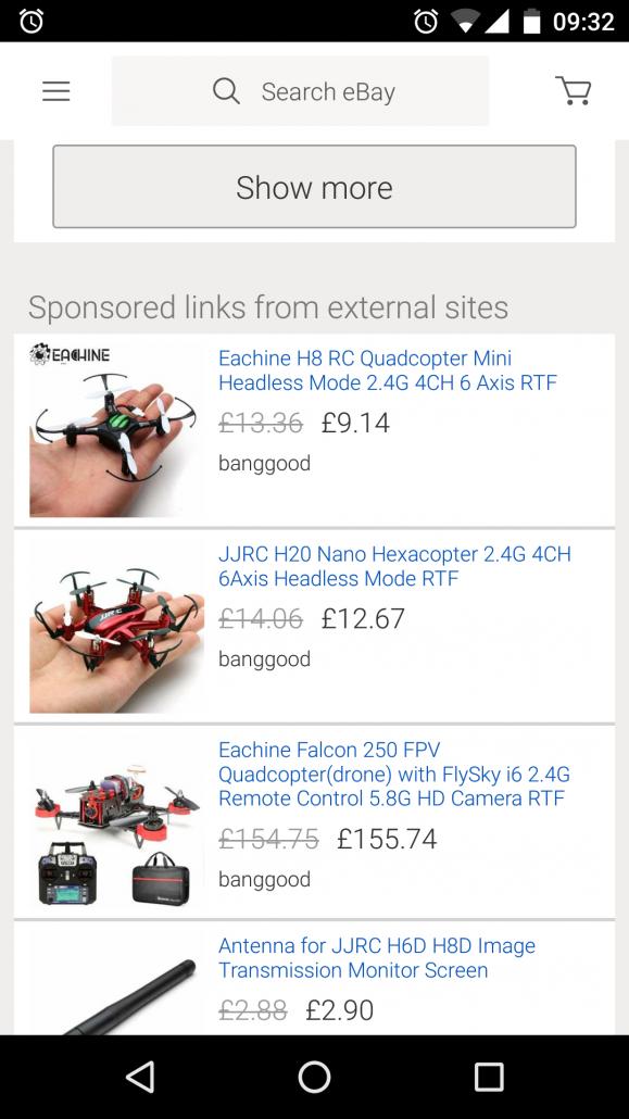 eBay Remarketing Adverts