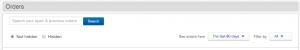 my ebay search option